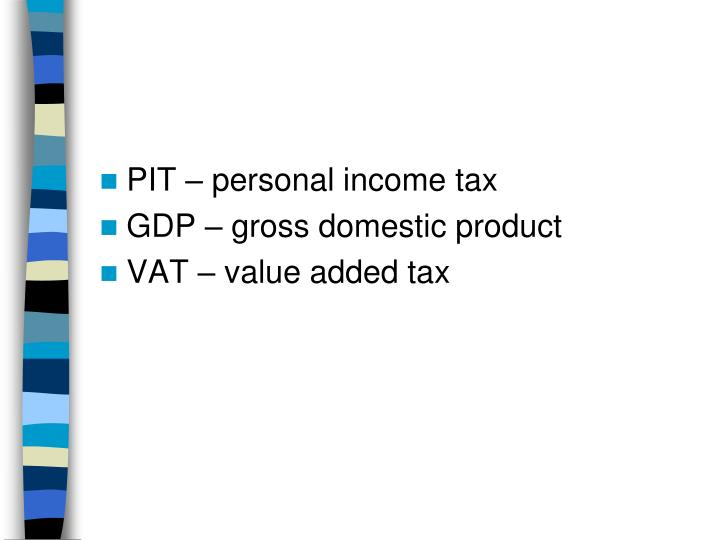 PIT – personal income tax