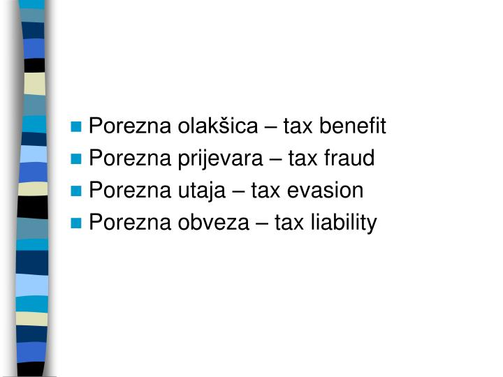 Porezna olakšica – tax benefit