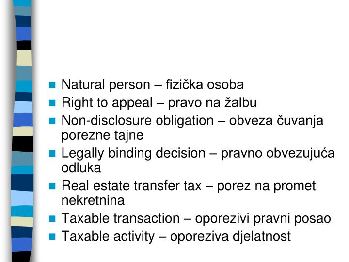 Natural person – fizička osoba
