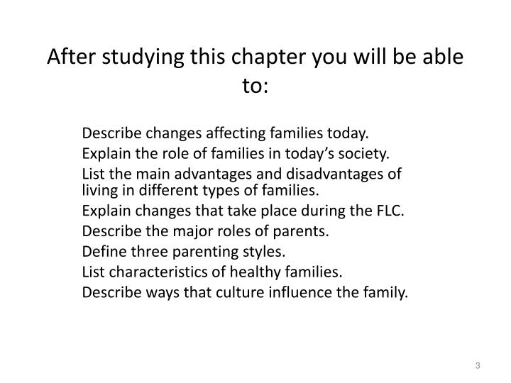 After studying this chapter you will be able to: