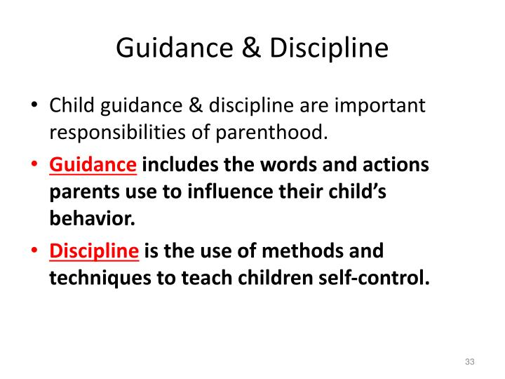 Guidance & Discipline