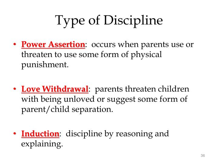 Type of Discipline