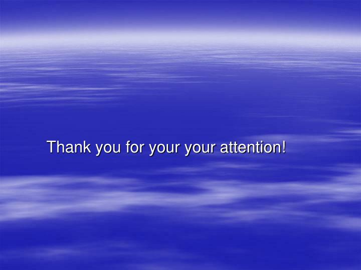 Thank you for your your attention!