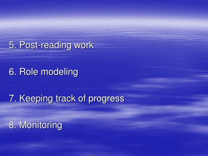 5. Post-reading work