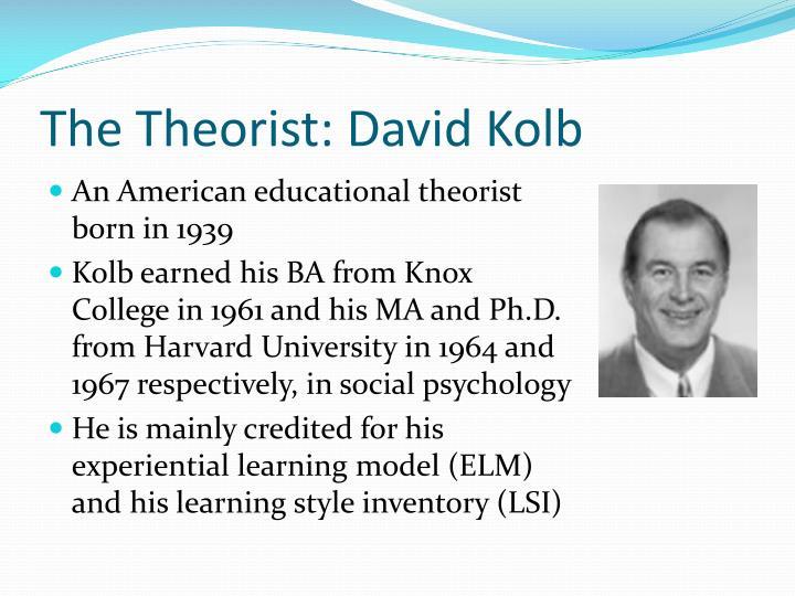 The Theorist: David Kolb