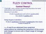 f uzzy c ontrol control theory5