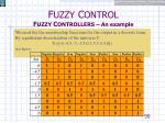 f uzzy c ontrol f uzzy c ontrollers an example16