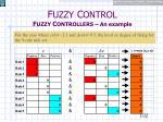 f uzzy c ontrol f uzzy c ontrollers an example19