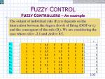 f uzzy c ontrol f uzzy c ontrollers an example20
