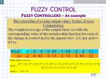 f uzzy c ontrol f uzzy c ontrollers an example24