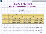 f uzzy c ontrol f uzzy c ontrollers an example4