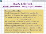 f uzzy c ontrol f uzzy c ontrollers takagi sugeno controllers14