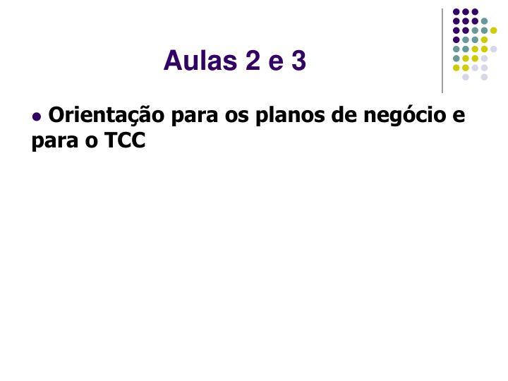 Aulas 2 e 3