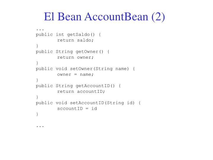 El Bean AccountBean (2)