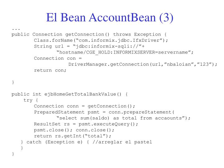 El Bean AccountBean (3)