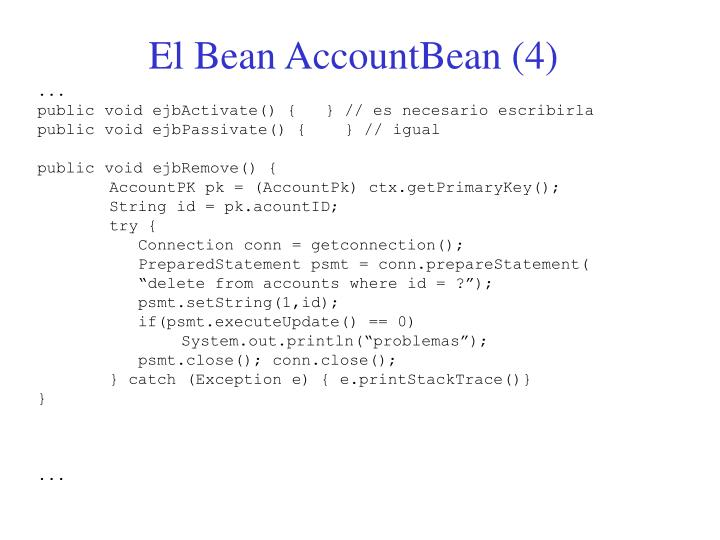 El Bean AccountBean (4)