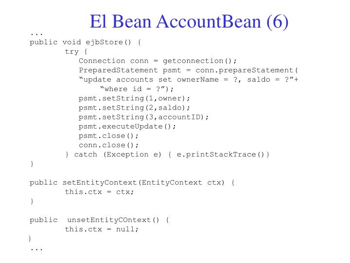 El Bean AccountBean (6)