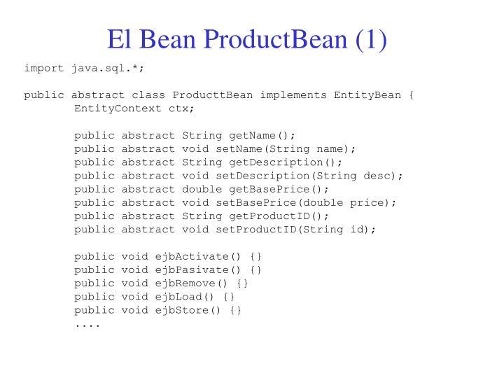 El Bean ProductBean (1)