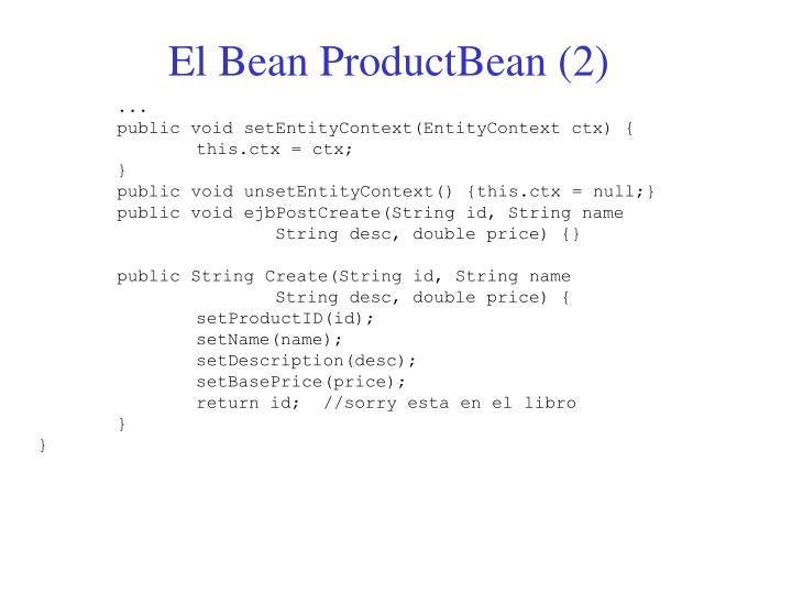 El Bean ProductBean (2)