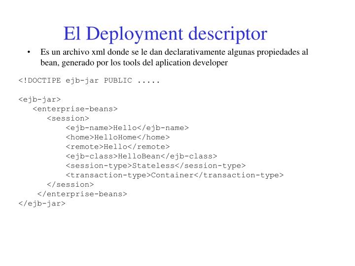 El Deployment descriptor