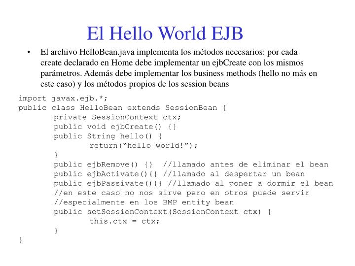 El Hello World EJB