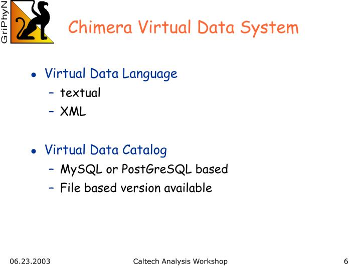 Chimera Virtual Data System
