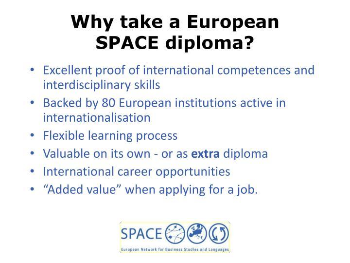 Why take a European