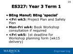 es327 year 3 term 1