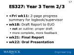 es327 year 3 term 2 3