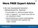 more free expert advice