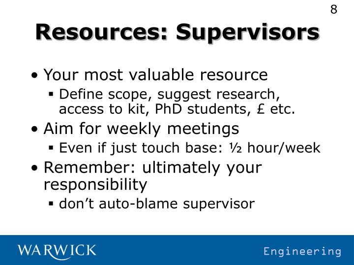Resources: Supervisors