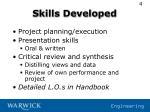 skills developed