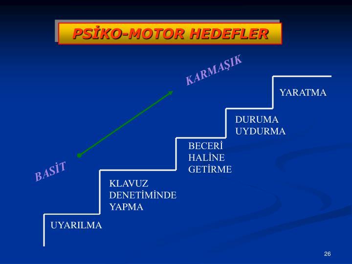 PSİKO-MOTOR HEDEFLER