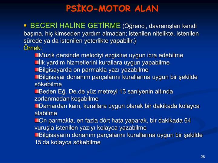PSİKO-MOTOR ALAN
