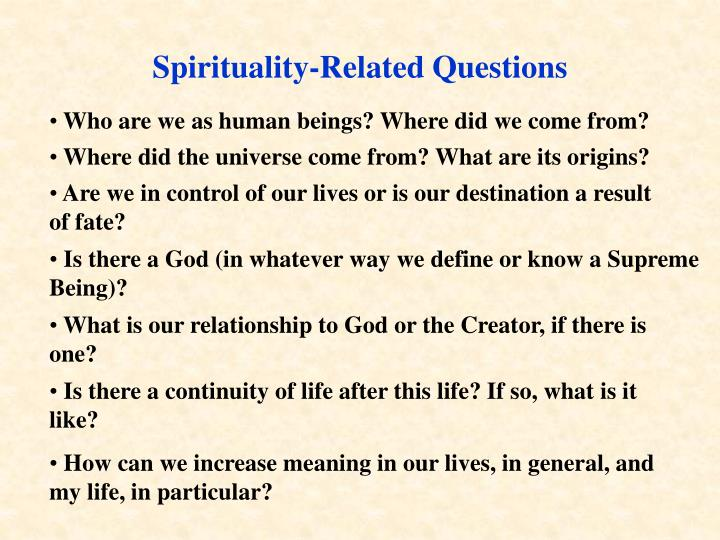 Spirituality-Related Questions