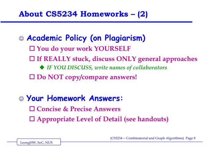 About CS5234 Homeworks – (2)