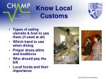 know local customs1