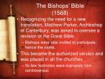 the bishops bible 1568