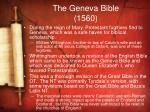 the geneva bible 1560