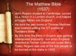 the matthew bible 1537
