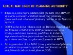 actual maf lines of planning authority