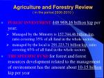 agriculture and forestry review in the period 2006 2010