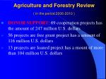 agriculture and forestry review in the period 2006 20101