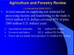 agriculture and forestry review in the period 2006 20103