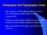 geography and topography cont