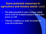 some potential resources in agriculture and forestry sector cont