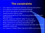 the constraints