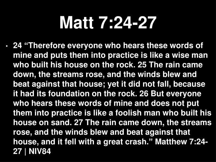 Matt 7:24-27
