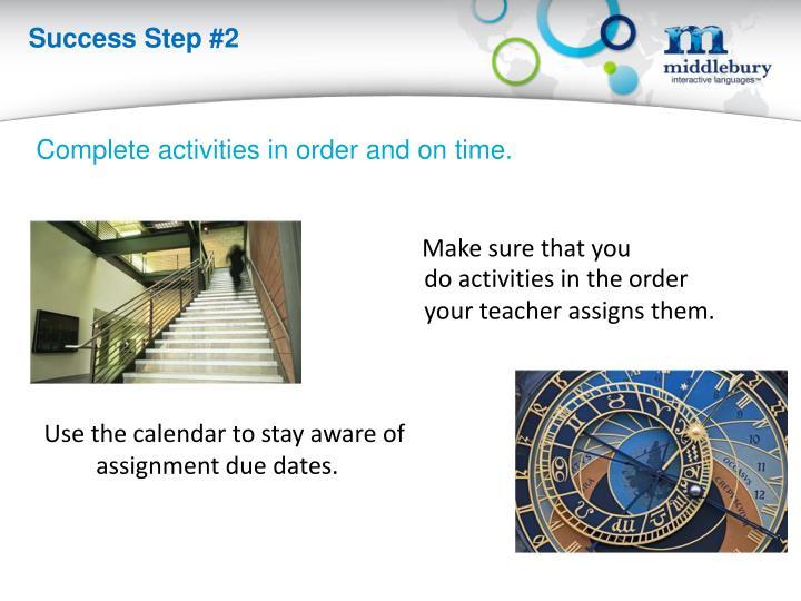 Success Step #2