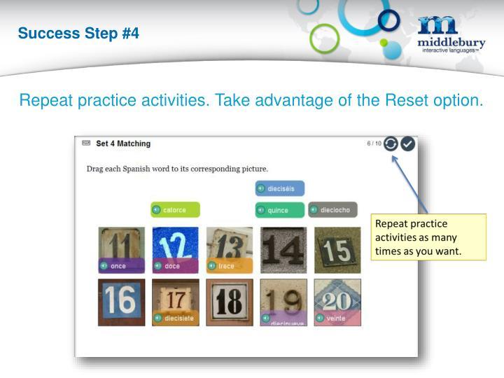 Success Step #4